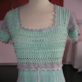 Летнее платье цвета мяты