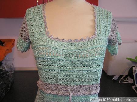 Летнее платье цвета мяты ручной работы на заказ
