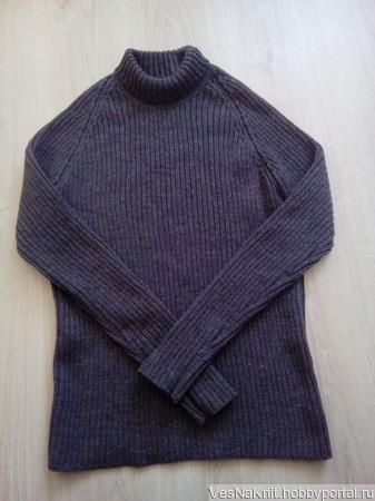 Мужской свитер лапша ручной работы на заказ