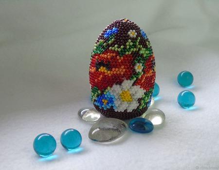 Бисерное яйцо ручной работы на заказ