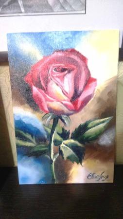 """Картина маслом """"Роза"""" ручной работы на заказ"""