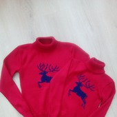 Женский и детский свитер  Family Look