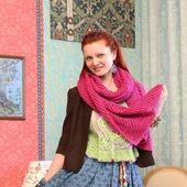фото: Вязаные спицами женские шарфы и шарфики (шарф вязанный)