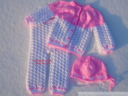 Теплый комплект для девочки ручной работы на заказ