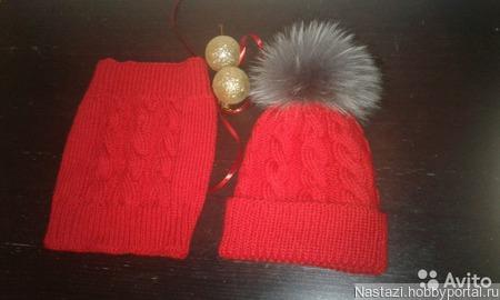 Зимний комплект шапка и снуд ручной работы на заказ
