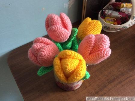 Тюльпаны крючком ручной работы на заказ