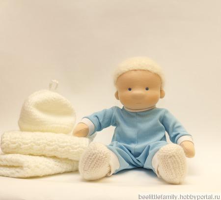 Текстильная кукла, 36 см ручной работы на заказ