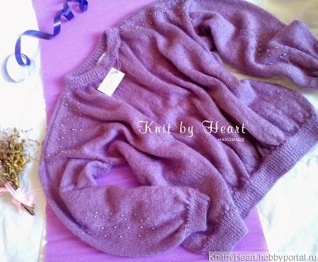 Модный вязаный свитер от Knit by Heart из мохера ручной работы на заказ
