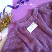 Модный вязаный свитер от Knit by Heart из мохера