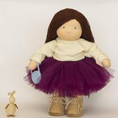 Текстильная  кукла, 35-36 см