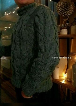 Зимний мужской свитер. ручной работы на заказ