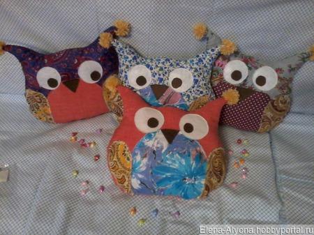 Подушки игрушки совушки ручной работы на заказ