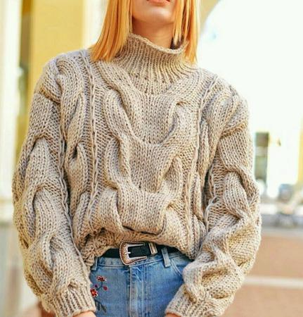 Женский свитер ручной работы на заказ