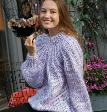 Вязаный свитер. Бренд Ganni ручной работы на заказ