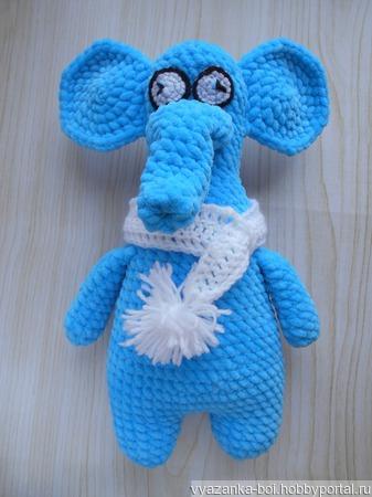 Синий Слон Фима ручной работы на заказ