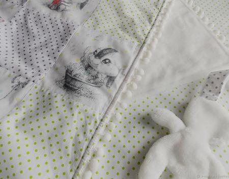 """Детский плед-покрывало  """"Мамины объятия"""" ручной работы на заказ"""