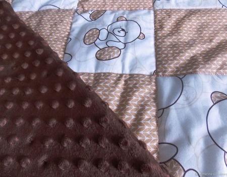 "Детское одеяло-плед ""Мишутки"" ручной работы на заказ"