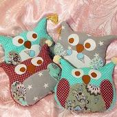 Подушки игрушки совушки