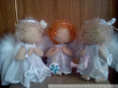 Интерьерная игрушка Ангелочки ручной работы на заказ