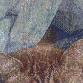 """Вышитая картина """"Барсик в одеялке"""""""