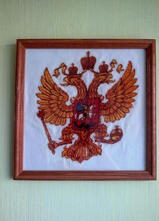 Герб РОССИИ ручной работы на заказ