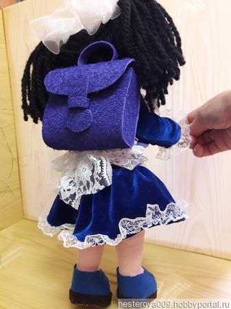 Кукла Наташка - первоклашка ручной работы на заказ