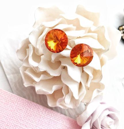 Серьги «Апельсиновый сок» ручной работы на заказ