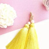 Серьги кисти «Лимонное суфле»
