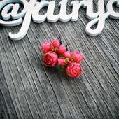 Серьги с розовыми пионами