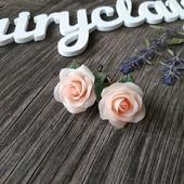 """Серьги """"Нежно-персиковые розы"""""""