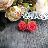 """Серьги """"Розовые розы"""""""
