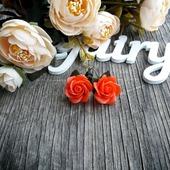 "Серьги ""Алые розы"""