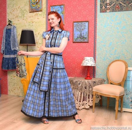 Платье рубашка, хлопковое. Платье летнее. ручной работы на заказ