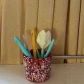 Интерьерная корзинка вязаная чехол для ватных палочек