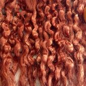 Окрашенные волосы для кукол: Тициан (кудри/локоны)