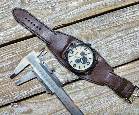Ремешок для часов из кожи Браслет из кожи ручной работы на заказ