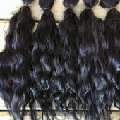 Окрашенные волосы для кукол: Иссиня-чёрный (кудри/локоны)