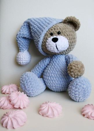 Плюшевый медвежонок в пижаме ручной работы на заказ
