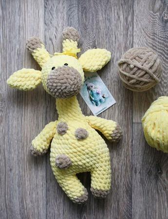 Плюшевый Жирафик Солнышко ручной работы на заказ