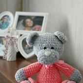 Плюшевая Мишка малышка в платье