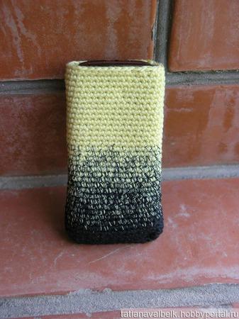 Вязаные чехлы для телефона ручной работы на заказ