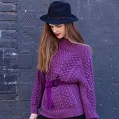 Вязаный свитер оверсайз из хлопка