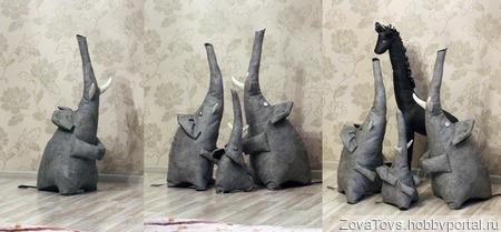 """Интерьерная игрушка """"Слон"""" ручной работы на заказ"""