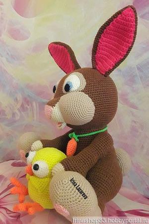 Игрушка Кролик и цыплёнок ручной работы на заказ