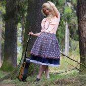 Хлопковая юбка миди на лето