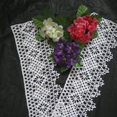 Кружево ручной работы вязаное