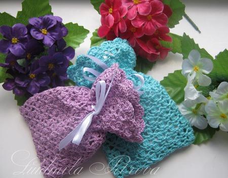 Мешочки для саше вязаные ручной работы на заказ
