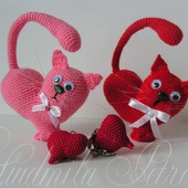 Котик-валентинка