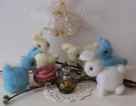 Вязаный маленький кролик ручной работы на заказ