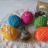 Мешочки для пасхальных яиц вязаные